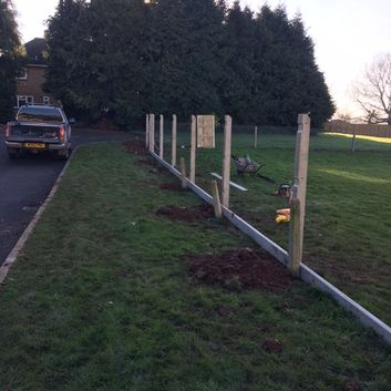fence in progress